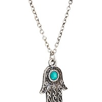 ASOS Hamsa Hand Charm Long Necklace