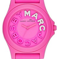 Women's MARC BY MARC JACOBS 'Sloane' Silicone Strap Watch, 40mm
