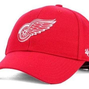 ONETOW NHL Detroit Red Wings MVP Structured Adjustable Hat