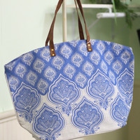 Jaipur Print Tote Bag {Blue}
