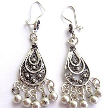 Sterling Silver Decorative Earrings IV