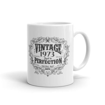 Vintage aged to perfection Born in 1973 44 yrs years old Coffee Mug