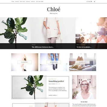 WordPress Blog Theme - Chloe | WordPress Theme, WordPress Template, WordPress Feminine Blog Theme, WordPress Travel, WordPress Fashion Blog