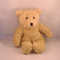 Vintage TY Bear - Plush Scruffy Beige Teddy Bear, Unnamed - 1991 Edition  - Great Condition