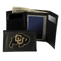 University of Colorado Buffaloes Trifold Leather Wallet (Black)