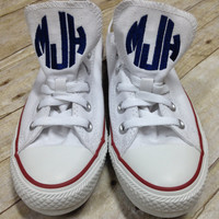 Monogrammed Converse, Monogrammed Chucks, Monogrammed Chuck Taylors, Personalized Shoes, Low Top Converse, Women's Converse