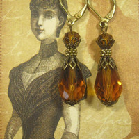Lady Edith - Downton Abbey Jewelry - Edwardian Jewelry - 1920s Earrings - Great Gatsby Jewelry - Art Deco Earrings - Titanic Jewelry