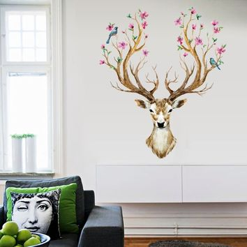 Sika Deer Home Decor Removable Wall Sticker Modern Decor Bedroom Decal Art Kids
