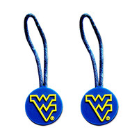 West Virginia Mountainers Zipper Pull Charm Tag Set Luggage Pet ID Ncaa