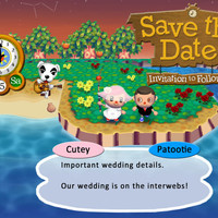 Animal Crossing Save the Date