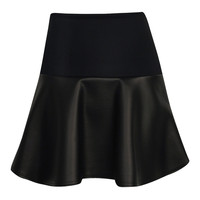 Lyndsay Ponte and Leatherette Mini Skirt