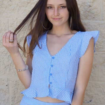 """""""Gingham Check"""" Top"""