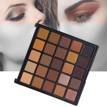 New 25 Color Copper Eyeshadow Palette Bronzed Palette Metallic & Shimmer & Matter Make Up Smoky/Warm Eye Shadow Kit
