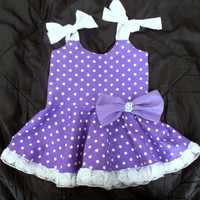 Purple flower girl dress. Ruffle flower girl dress. Girls purple birthday dress. Toddler special occasion dress. Girls purple party dress