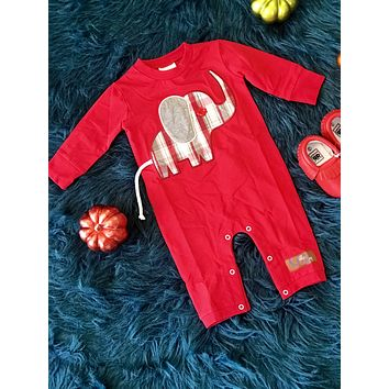 2018 Fall Millie Jay Boys  Elephant Romper