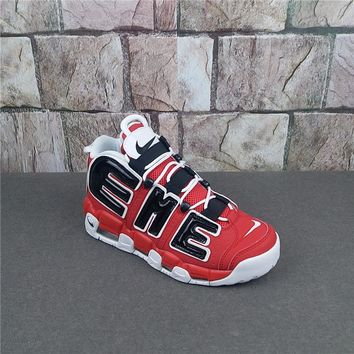 Supreme x Nike Air More Uptempo Red/White Sneaker