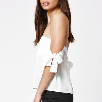 LA Hearts Tie Strap Off-The-Shoulder Top at PacSun.com