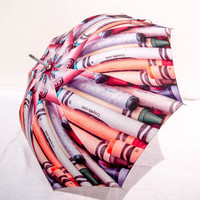 Crayon Photo Art Umbrella Back To School Great Teacher Gift
