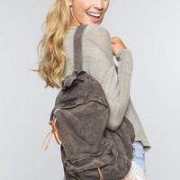 John Galt Washed Fabric Backpack