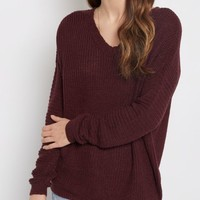 Plum Open Back Sweater | Sweaters | rue21