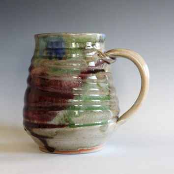 LARGE Coffee Mug, 24 oz,handmade ceramic cup, tea cup, coffee cup, handthrown ceramic stoneware pottery mug, unique coffee mug