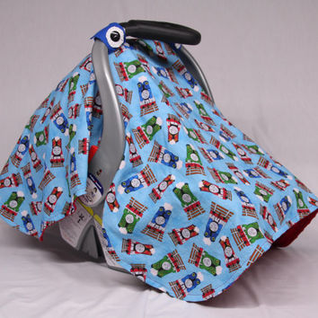 Thomas the Train and Friends Baby Car Seat Canopy, Baby Shower Gift, Infant Car Seat Canopies, Baby Boy Car Seat Cover