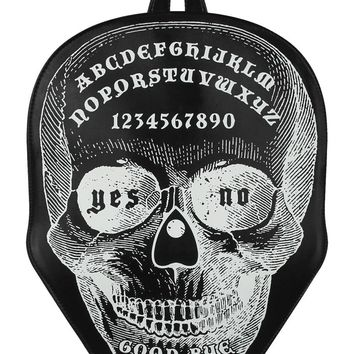 Goth Rock Dark Magic Skull Ouija Board Black Backpack