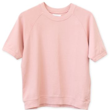 CARA SHORT SLEEVE SWEATSHIRT - ROSE – Shop Sincerely Jules