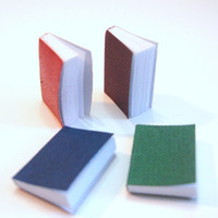 "Miniature 1"" Books 66 Pages Dollhouse Accessory Diorama Supply 1/12 or 1/6 Dollhouse Supply Set of 4"