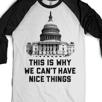 White/Black T-Shirt | Funny Government Shirts