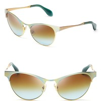 Miu Miu Metal Cat Eye Sunglasses | Bloomingdale's
