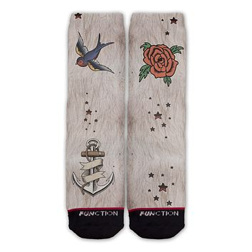 Funtion - Fake Traditional Tattoos Costume Socks