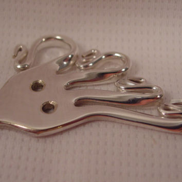 A Beautiful Fork Octopus Necklace Pendant on a Black Cord Handmade Silverware Jewelry o22