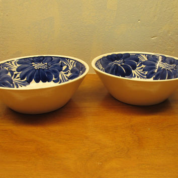 SET OF TWO CERAMIC BOWLS MADE IN MEXICO