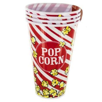 33 oz. Red Popcorn Bucket Cups Set (Available in a pack of 4)