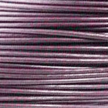 Round Leather Cord 1.5mm Metallic Berry - 2 Yards  B689