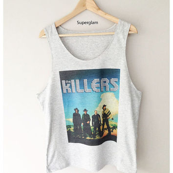 The Killers Band Rock Indie Punk Singlet T-Shirt Vest Unisex Man Women