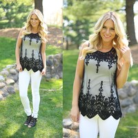 Graced In Lace Top in Black