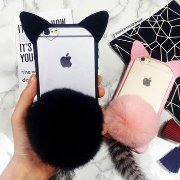 cute furry cat tail Case Cover for Apple iPhone 5s 5 SE 6 6S 6 Plus 6S Plus DC080701