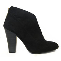 Black Suede Madge Booties