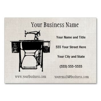 Custom Seamstress Tailor or Vintage Business Cards