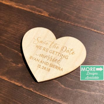 Save the Date Magnet- Heart Shaped -SD3