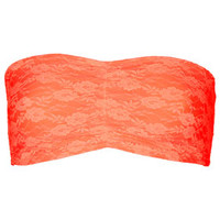 Fluro Orange Lace Bandeau