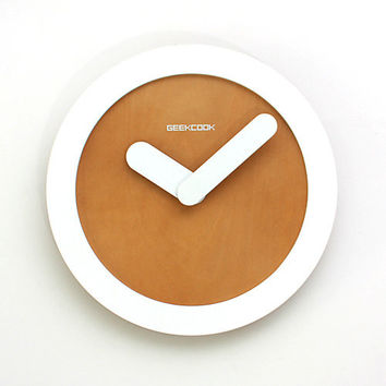 Creative simple mute wall clock art ring fashion living roomHome Office Watch IKEA rural wind $22.37