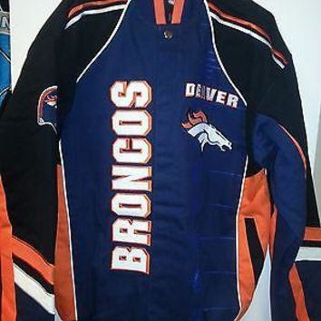 DENVER BRONCOS  Franchise TWILL JACKET NEW M,2X,3X--NEW WITH TAGS