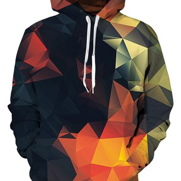 UIDEAZONE Moletom 3D Print Color Blocks Men Hoodies With Hat Thin Tops