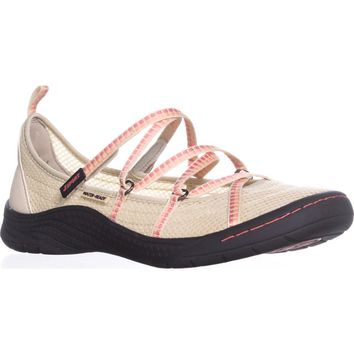 JSport by Jambu Sideline Encore Sport Flats, Tan/Coral, 8.5 US / 39.5 EU