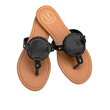 Black Monogramable Sandals