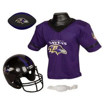 Baltimore Ravens NFL Youth Size Helmet and Jersey With Team Color Football