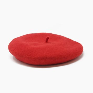 Jean Beret Hat - Red